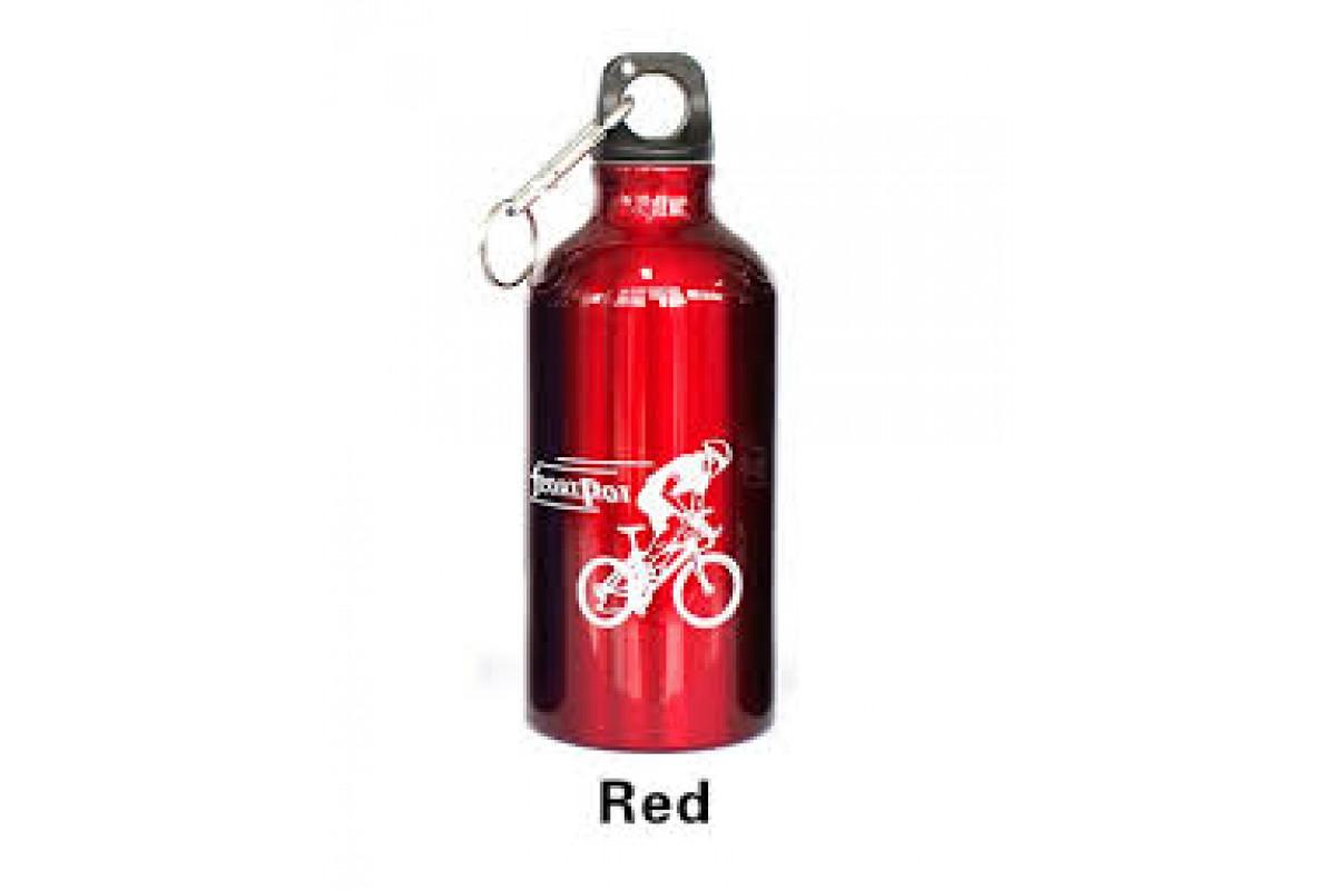 Фляга велосипедная, алюминиевая , красн.